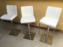 Set of 3 leather gas lift bar stools Prospect Prospect Area Preview