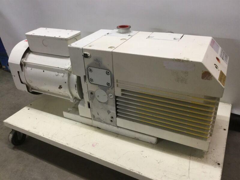 Leybold D65BCS Dual-Stage Rotary Vane Vacuum Pump w/GE 3HP 208-230/416-460VAC 3Ø