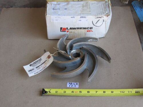 """+NEW IN BOX LAWRENCE PUMP 060-11384-C000 STAINLESS PUMP IMPELLER  9-1/2"""" O.D."""