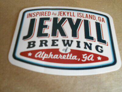 2 JEKYLL BREWING Georgia STICKER decal craft beer brewery-perfect / new