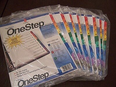 Lot Of 8 Sets Cardinal Onestep Numbered Index System 1-10 Multicolor Index Tabs