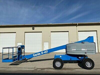 2007 Genie S-40 Aerial Manlift Boom Lift Boomlift Deutz Diesel Man Basket Genie