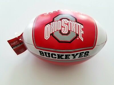 - NCAA Ohio States Buckeye college vinyl softee 8 inches football made by Rawlings