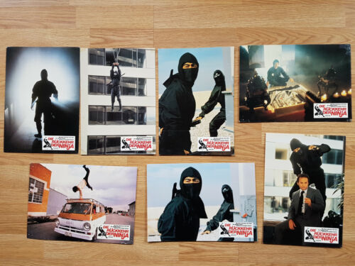 REVENGE OF THE NINJA Sho Kosugi - 7 rare German lobby cards 1983 Martial arts