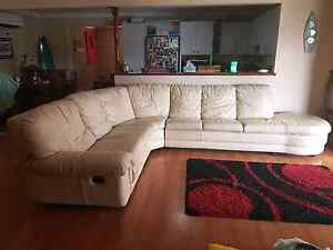White Authentic Leather Lounge Camden Camden Area Preview