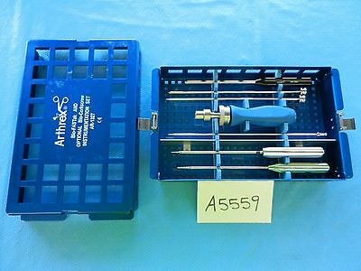 Arthrex Arthroscopic Arthroscopy Bio-fastak Instrument Set Ar-1327 Complete