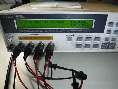 Agilent Hp 4263b 100 Hz To 100 Khz Lcr Meter