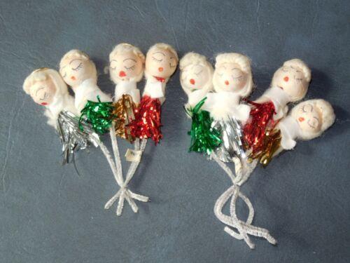 VTG Christmas Spun Cotton Angel Tie Ons- Japan-Lot of 8