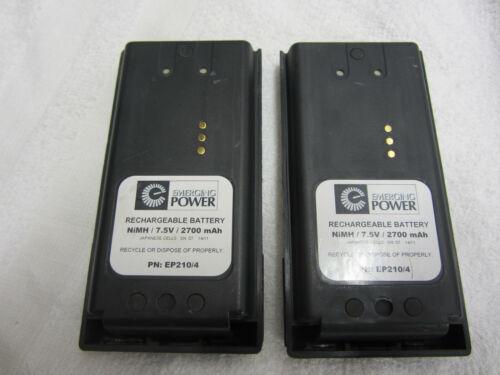 Qty. 2 Battery Harris Jaguar P7200 Rechargeable Two Way Radio 7.5v 2700mAh Ni-MH