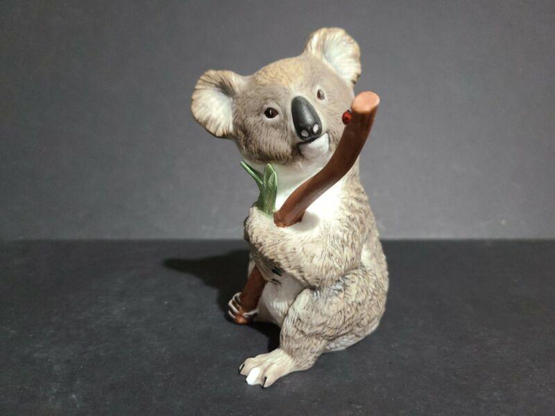 "Koala with Lady Bug on a Twig  Vintage Eva Dalberg Franklin Mint  1983 5"" Tall"