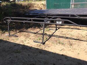 Contractor ladder truck rack