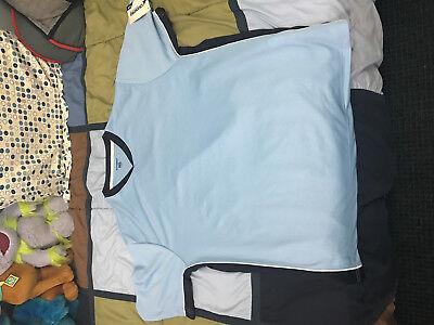 Champro sports blank soccer jersey light blue size xl dri-gear brand new