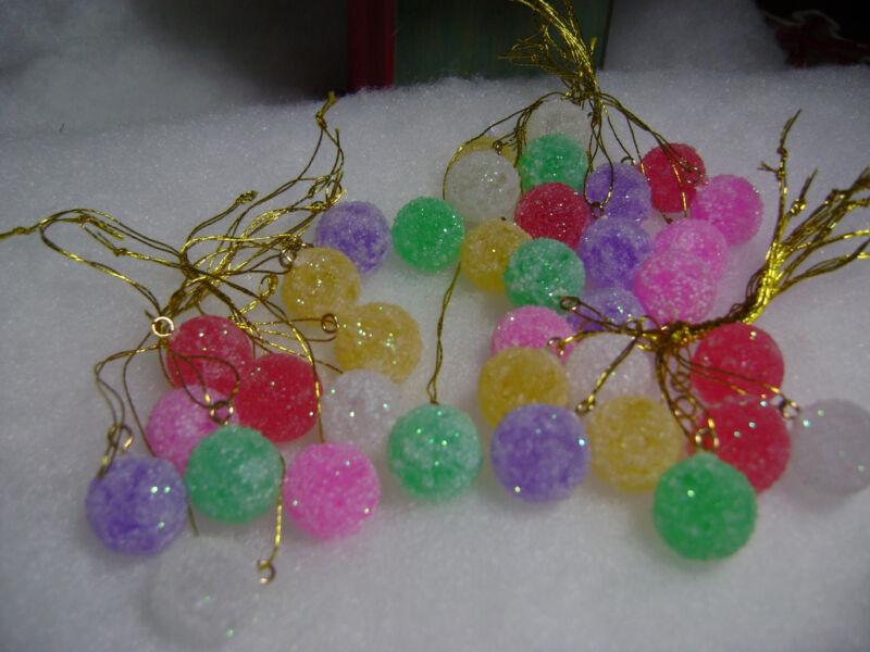 Gumdrop 36pc Mini Sugar Coated Fake candy Christmas Tree Ornaments crafts