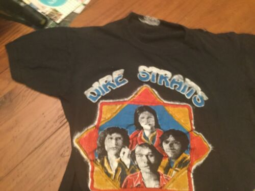 DIRE STRAITS ORIGINAL 70's TOUR T-SHIRT SMALL WORN