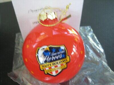 US Marine Corps American Heroes Happy Holidays Glass Ball Christmas Ornament   Marine Corps Glass