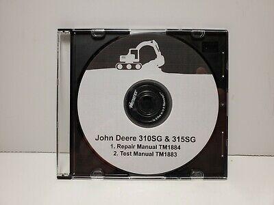 Pdf Cd John Deere 310sg 315sg Backhoe Loader Service Test Manuals Tm1884 1883