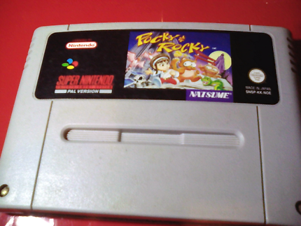 Super Nintendo extremely Rare Pal Pocky and Rocky game