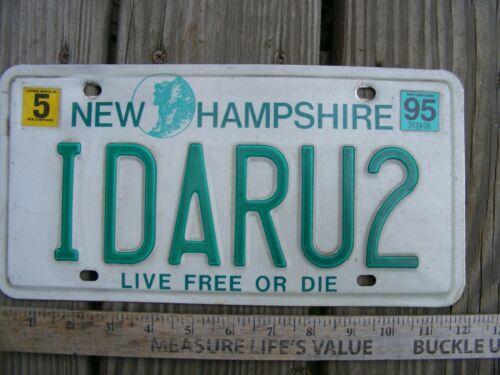 NEW HAMPSHIRE VANITY LICENSE PLATE.IDARU2