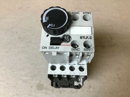 General Electric GE RL4RA040T Contactor, BTLF30C Time Delay Relay, 120V Coil