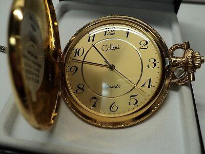 COLIBRI POCKET WATCH WITH BOX GOLD TONE INSIDE AND - Colibri Gold Pocket Watch