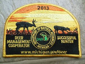 2013 MICHIGAN SUCCESSFUL DEER HUNTER PATCH BEAR TURKEY MINT