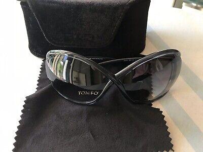 Tom Ford Whitney Sonnenbrille grau gold Brezelform oversize grey TF 9 B5