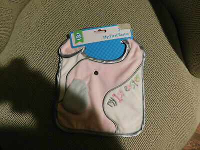 My First Easter Bib • Baby Girl • Elephant Design • NWT](My First Easter)