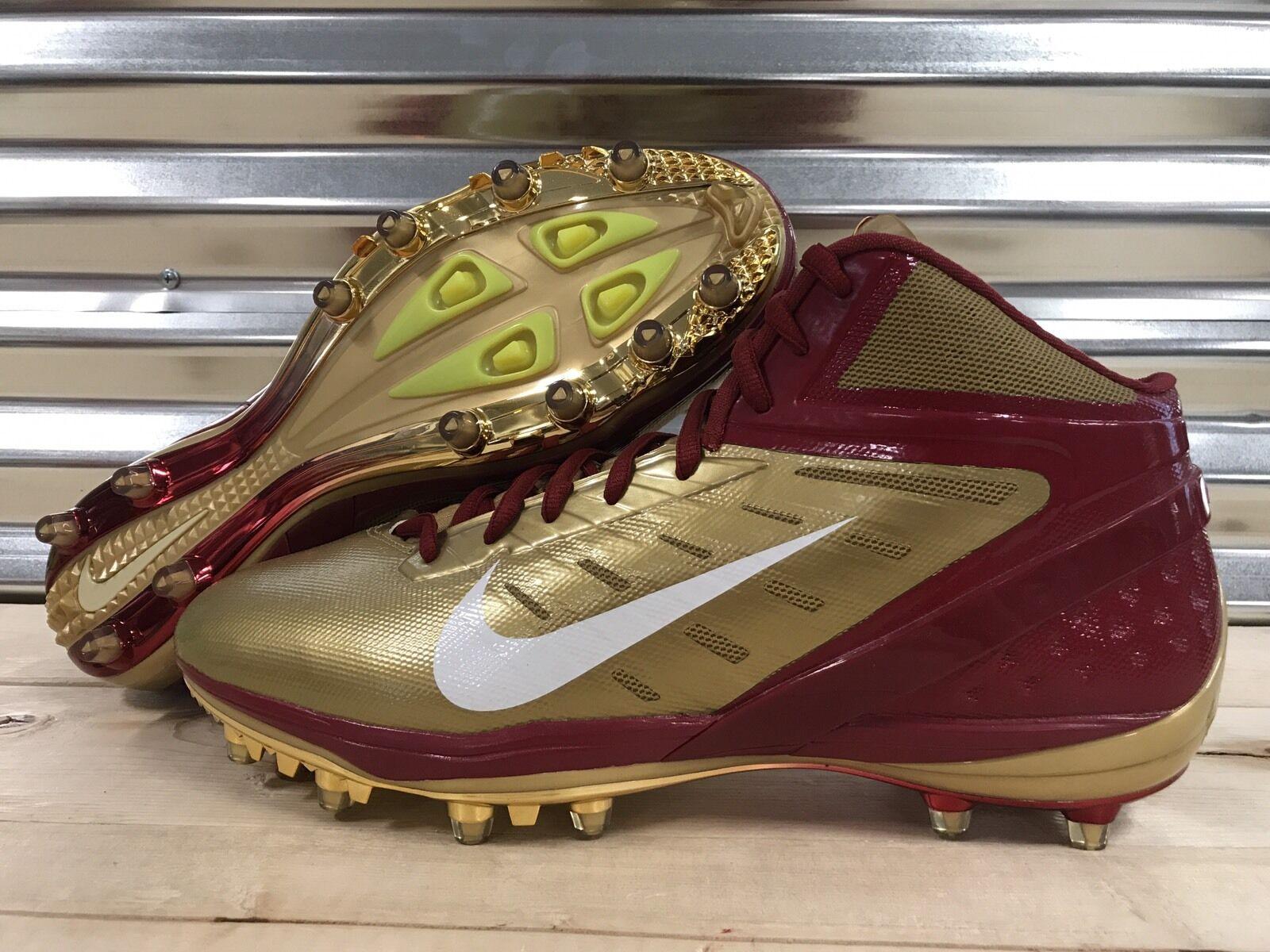 best service 68c86 b6ccc Nike Alpha Talon Elite Florida State Seminoles Football Cleats FSU Sample  SZ 14