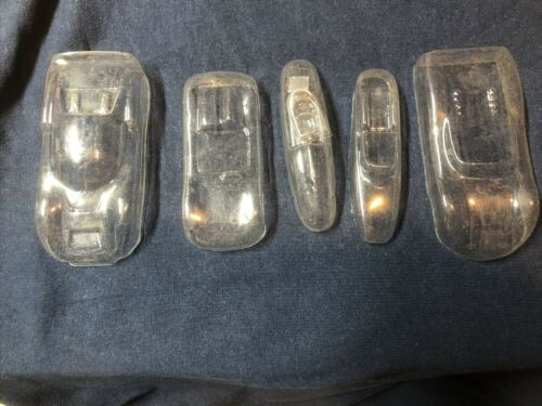 5 Vintage 1960s Vacuform Porsche 1:32 Slot Car Body Shells