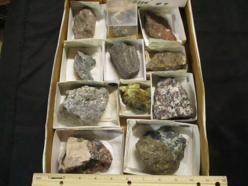 Wholesale Flat of Assorted Franklin/Sterling Hill Mineral Specimens #9