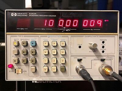 Hp 5343a Microwave Frequency Counter