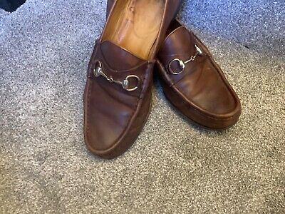 Gucci. Hazel Brown horsebit loafers 9