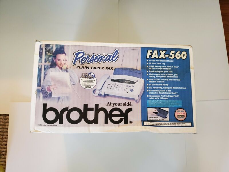 New Brother Personal FAX-560 Plain Paper Fax Copier Phone Machine Open Box