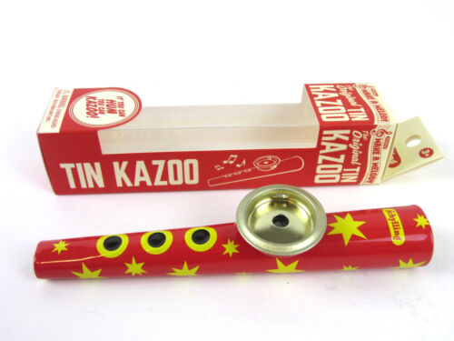 METAL KAZOO - Blue or Red Tin HUM A ZOO New in Box
