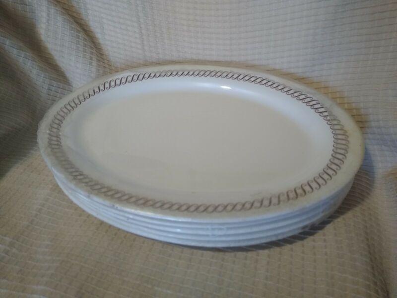 Set Of 5 NEW Waffle House dinner Plates Platters Restaurantware
