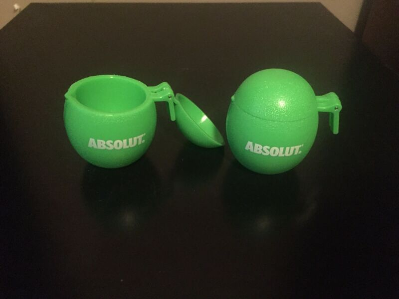 Set of (5) Absolut Lime Shot Glasses Hitchhiker Hanger Green Limes