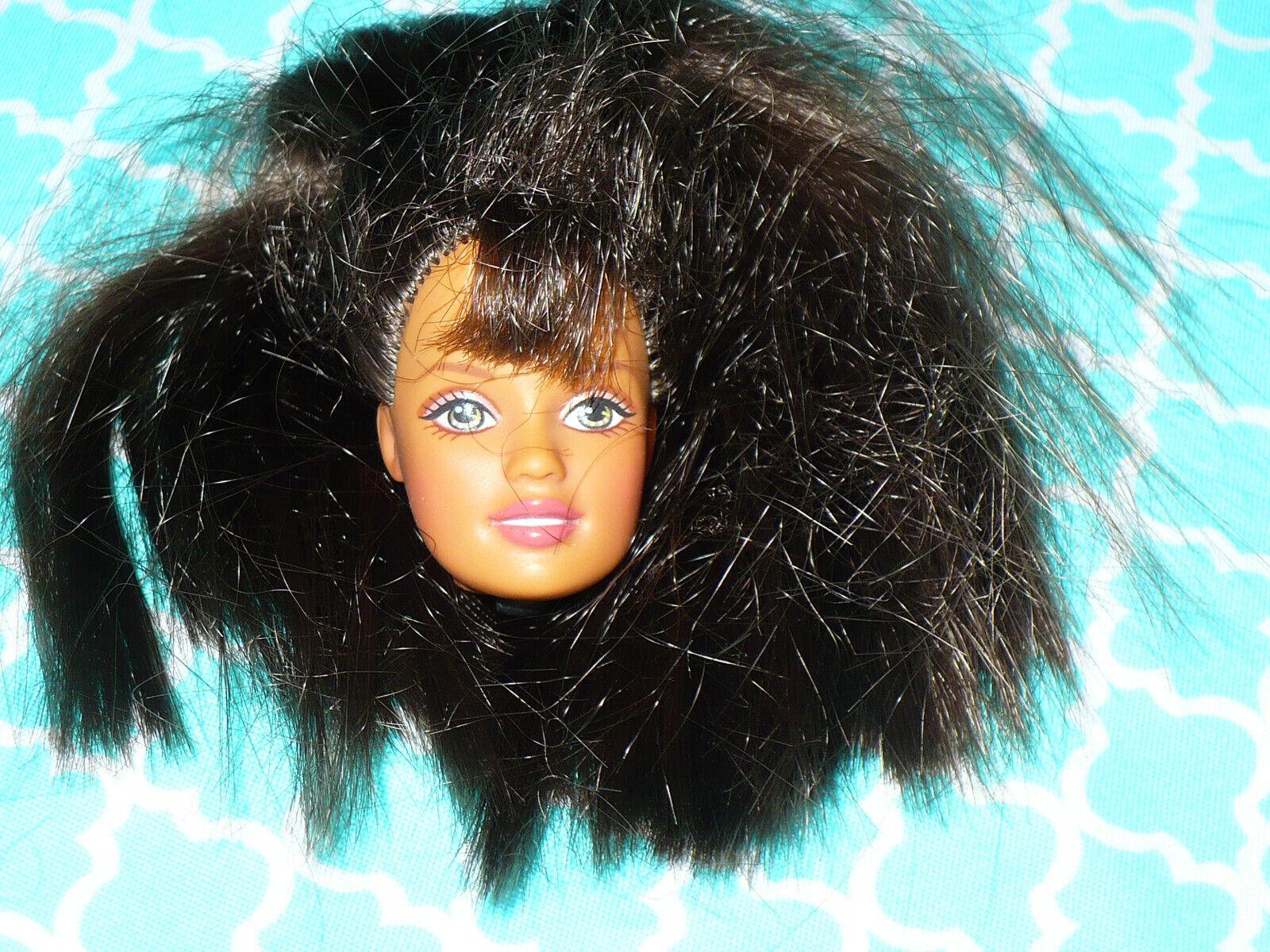 Mattel Barbie Doll TERESA HEAD ONLY BROWN HAIR For OOAK Or Custom - $7.99