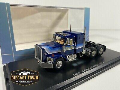 1/64 NEO Scale Models 1974 Diamond Reo Raider Truck SBFA  NEO64096 Dark Blue