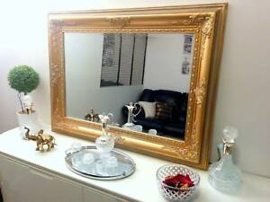 Stunning ornate gold mirror 118x86cm