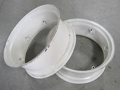 2 New Wheel Rims 12x28 6-loop Fit Ford Tractor 2n 8n 9n Jubilee Naa 12-28 12 28