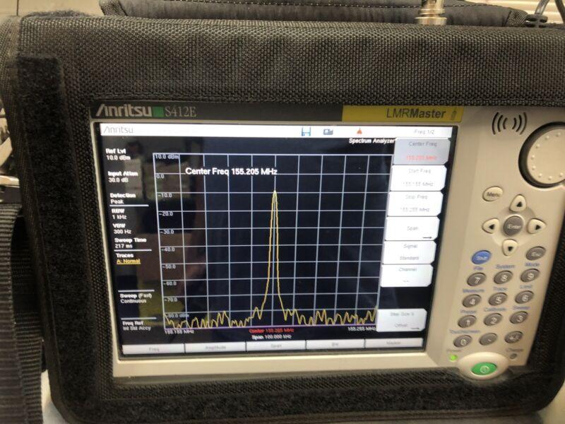 Anrtisu LMR Master Service Monitor S412e