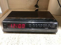 Vintage Emerson Woodgrain RED5521 Digital AM/FM Alarm Clock Radio Tested Retro