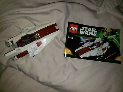 LEGO- STAR WARS- A-WING STARFIGHTER- 75003-  USED