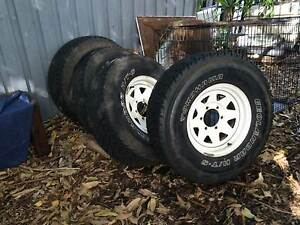4x 15inch Sunraysia Rims & Yokohoma Geolander 30's North Narrabeen Pittwater Area Preview