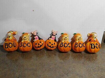 VTG Disney Winnie The Pooh Piglet Tigger Halloween Blow Mold Covers for Stakes