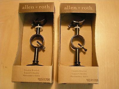 (2) Pcs  allen roth double Bracket for curtain rod Complete with hardware