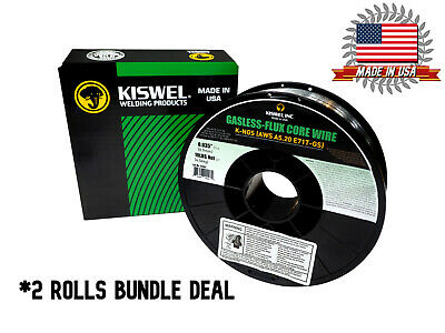 Made In Usa 2 Rolls K-ngs E71t-gs .035 In. Dia 10lb. Gasless-flux Core Wire