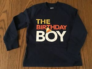 OLD NAVY BRAND, SIZE 4T, BIRTHDAY BOY, LONG SLEEVE SHIRT
