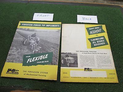 Massey Ferguson 1950 Sales Brochure Vintage From Original Ferguson Dealer