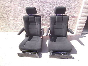 2011  -  2018  Dodge Caravan 2 Stow n Go Bucket Seats BLACK CLOTH